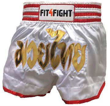 Fit4Fight Muay Thai Shorts Hvid