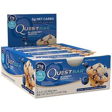Quest Protein Bar 12 stk. Blueberry Muffin