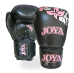 "Joya ""Flower"" Kick-Boxing Glove Black/ pink (Leather)"